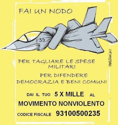 Il 5 per mille al Movimento Nonviolento