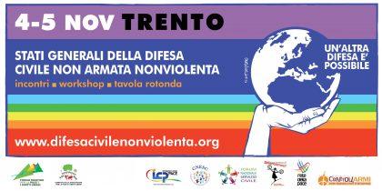 """A Trento gli """"Stati generali della Difesa civile non armata e nonviolenta"""""""