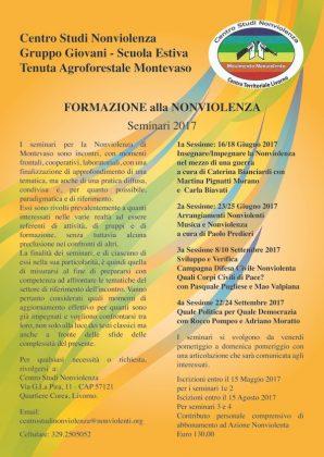 Livorno: Formazione alla nonviolenza – I seminari di Montevaso