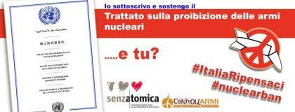 Il Nobel per la Pace alla Campagna per l'abolizione delle armi nucleari. Anche una nostra Campagna