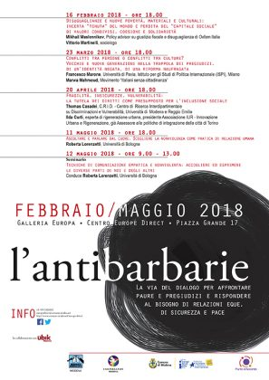 Modena Locandina L'antibarbarie 2018