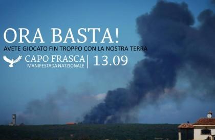 Capo Frasca 13 settembre 2014: una tappa importante per liberare la Sardegna dalle basi militari
