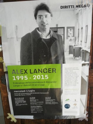 #Trento: Ricordando Alexander Langer e Srebrenica
