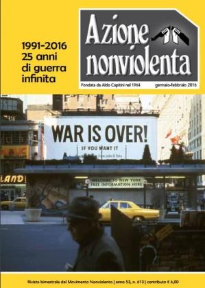 Azione nonviolenta, Gennaio-Febbraio 2016: l'editoriale di Mao Valpiana