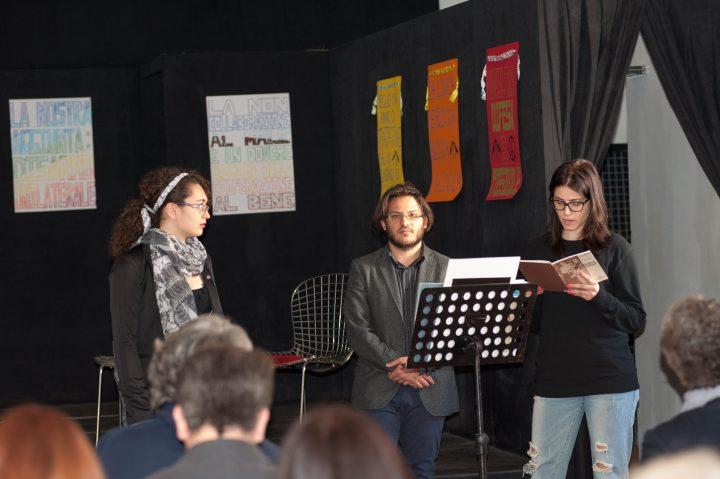 L'assemblea è insegnata nel segno della compresenza di Piero Pinna con la lettura della sua lettera d'obiezione del 1971 e un brano di Bach