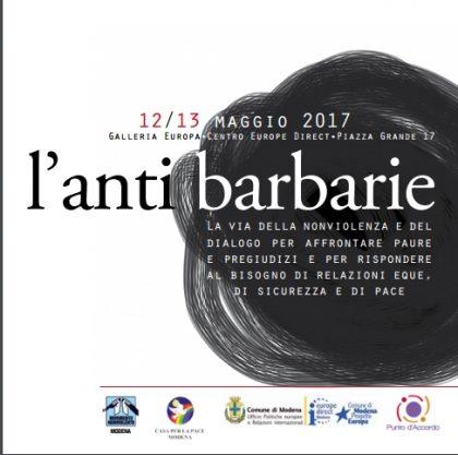 Modena: L'antibarbarie – gli incontri di maggio