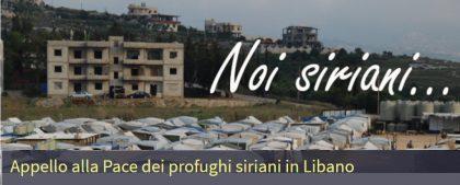 NOI SIRIANILa Proposta di Pace dei profughi