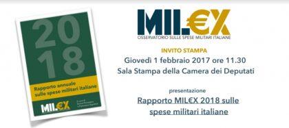 Rapporto MIL€X 2018 sulle  spese militari italiane