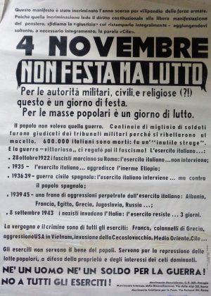 manifesto 4 novembre 1974