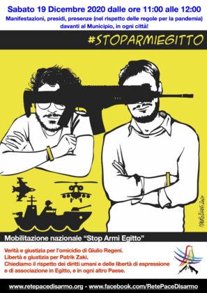 """COMUNICATO – 19 dicembre 2020: mobilitiamoci per Giulio e Patrick, e diciamo """"Stop armi Egitto"""""""